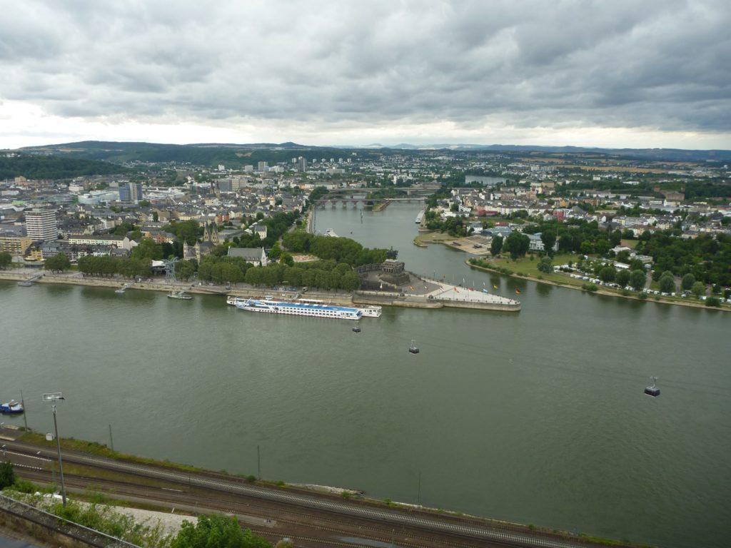 Koblenz Sicht vom Ehrenbreitstein